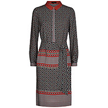 Buy Jaeger Silk Tile Print Shirt Dress Online at johnlewis.com