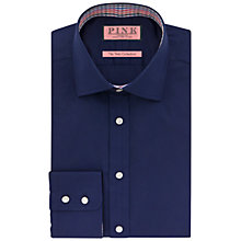 Buy Thomas Pink Fraser XL Sleeve Plain Shirt, Navy/Orange Online at johnlewis.com