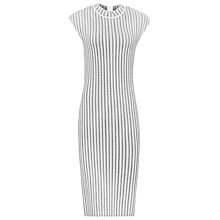 Buy Reiss Vienne High Neck Dress, Black/White Online at johnlewis.com