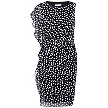 Buy Gina Bacconi Spot Print Chiffon Dress, Black/White Online at johnlewis.com