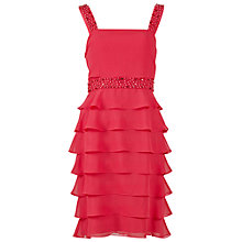 Buy Gina Bacconi Tiered Frill Chiffon Dress, Tutti Frutti Online at johnlewis.com