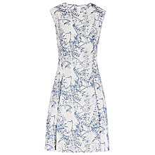 Buy Reiss Clemens Jacquard Dress, Blue/White Online at johnlewis.com