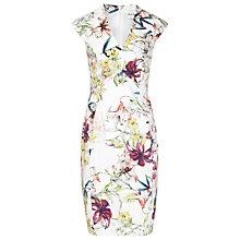 Buy Reiss Onie Printed Dress, Sugar Online at johnlewis.com