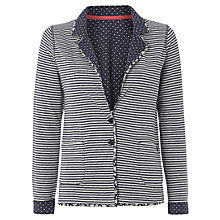 Buy White Stuff flossie Reversible Jersey Jacket, Navy Online at johnlewis.com
