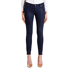Buy Ted Baker Annna Wax Finish Jeans, Navy Online at johnlewis.com