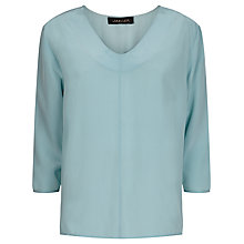 Buy Jaeger Silk V-neck Top, Aquifer Online at johnlewis.com