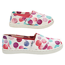 Buy TOMS Confetti Original Classic Canvas Plimsolls, White/Multi Online at johnlewis.com