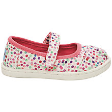 Buy TOMS Children's Mary Jane Polka Dot Shoes, White/Multi Online at johnlewis.com