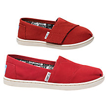 Buy TOMS The Classics Alpagartas, Red Online at johnlewis.com