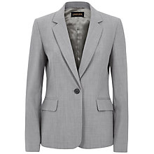 Buy Jaeger Tropical Wool Jacket, Grey Melange Online at johnlewis.com