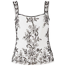 Buy Gina Bacconi Beaded Cami Top, Cream Online at johnlewis.com