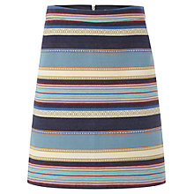 Buy White Stuff Ikat Stripe Skirt, Orient Blue Online at johnlewis.com