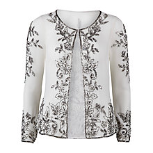 Buy Gina Bacconi Beaded Jacket, Cream Online at johnlewis.com
