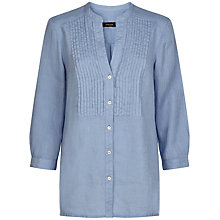 Buy Jaeger Linen Pintuck Shirt Online at johnlewis.com