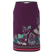 Buy White Stuff Barge Cats Skirt, Deep Pansy Online at johnlewis.com