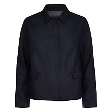 Buy Jaeger Casual Linen Jacket, Midnight Online at johnlewis.com