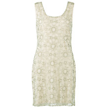 Buy Gina Bacconi Beaded Star Shift Dress, Nude Online at johnlewis.com