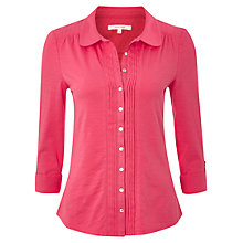 Buy White Stuff Easy Day Jersey Shirt, Rosie Pink Online at johnlewis.com