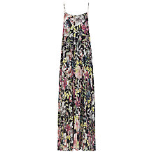 Buy Reiss Kyra Pleated Maxi Dress, Black Online at johnlewis.com