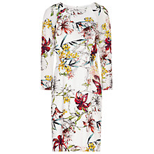 Buy Reiss Lottie Printed Silk Dress, Sugar Online at johnlewis.com