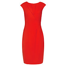 Buy Reiss Simonetta Asymmetric Neck Dress, Bright Red Online at johnlewis.com