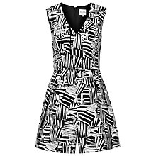 Buy Reiss Hail Culotte Playsuit, Black/White Online at johnlewis.com