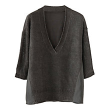 Buy Poetry Woven Knitted Linen Jumper Online at johnlewis.com