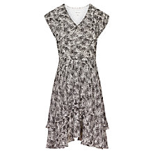 Buy Reiss Canyon Tiered Dress, Black/White Online at johnlewis.com