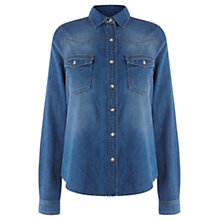 Buy Warehouse Denim Western Shirt, Dark Wash Online at johnlewis.com
