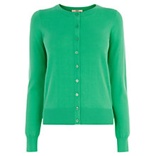 Buy Oasis Crew Neck Cardigan, Mid Green Online at johnlewis.com