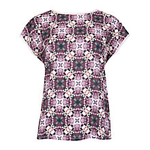 Buy Ted Baker Crochet Geo Print Top, Grape Online at johnlewis.com