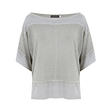 Buy Mint Velvet Lichen Overdye Kimono Knitted Top, Green Online at johnlewis.com