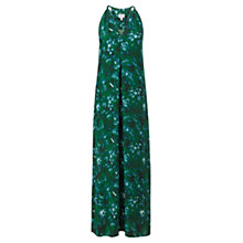 Buy Jigsaw Misty Garden Maxi Dress, Green Online at johnlewis.com