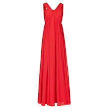 Buy Reiss Miriana Cross Strap Maxi Dress, Red Online at johnlewis.com