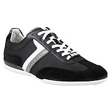 Buy BOSS Green Spacito Textile Mix Trainers, Black Online at johnlewis.com