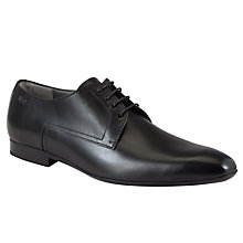 Buy BOSS C-Negio Leather Lace-Up Shoes, Black Online at johnlewis.com