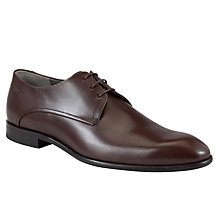 Buy BOSS C-Dresio Leather Lace-Up Shoes, Brown Online at johnlewis.com