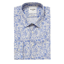 Buy Ben Sherman Floral Print Long Sleeve Shirt, Royal Blue Online at johnlewis.com