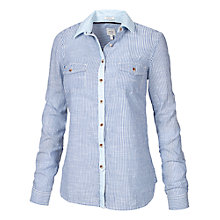 Buy Fat Face Classic Fit Stripe Shirt, Blue Breeze Online at johnlewis.com