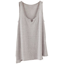 Buy Poetry Striped Linen Jersey Vest, Silver Online at johnlewis.com