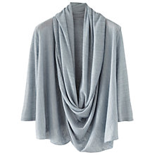 Buy Poetry Drape Front Top, Grey Blue Online at johnlewis.com