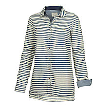 Buy Fat Face Blythe Stripe Shirt, Dark Chambray Online at johnlewis.com