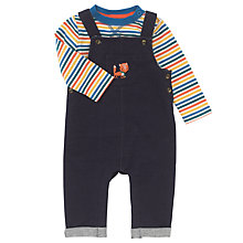 Buy John Lewis Baby Dungaree & Stripy Top Set, Blue/Multi Online at johnlewis.com
