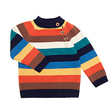 Buy John Lewis Baby Stripe Piecrust Jumper, Multi Online at johnlewis.com
