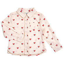 Buy John Lewis Baby's Fox Shirt, Cream Online at johnlewis.com