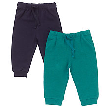 Buy John Lewis Baby's Joggers, Pack of 2, Blue/Green Online at johnlewis.com
