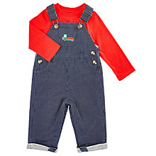 Buy John Lewis Baby's Dungaree and Red Top Set, Blue/Red Online at johnlewis.com