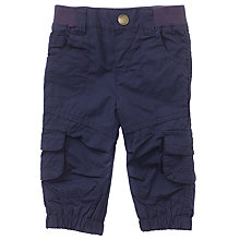 Buy John Lewis Baby Poplin Combat Trousers, Navy Online at johnlewis.com
