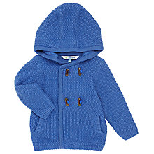 Buy John Lewis Baby Chunky Hoodied Cardigan, Royal Blue Online at johnlewis.com