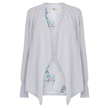 Buy Oasis Oriental Print Cardigan, Pale Grey Online at johnlewis.com